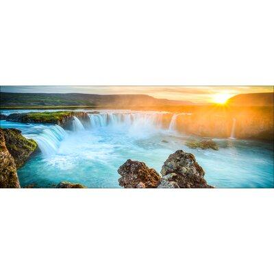 Pro-Art Glasbild Colourful Waterfall, Kunstdruck