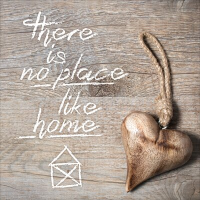 Pro-Art Glasbild There Is No Place Like Home, Kunstdruck