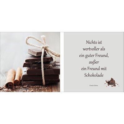 Pro-Art Glasbild Freund Mit Schokolade, Kunstdruck