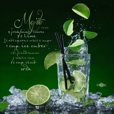 Pro-Art Glasbild Mojito, Kunstdruck