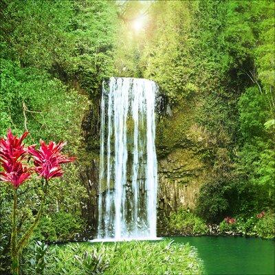 Pro-Art Glasbild Exotic Waterfall, Kunstdruck