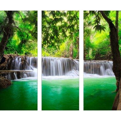 Pro-Art Glasbild Waterfall, Kunstdruck