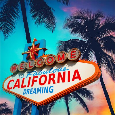 Pro-Art Glasbild California Dreaming I, Kunstdruck