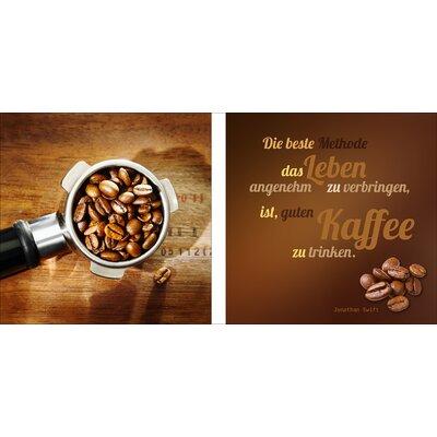 Pro-Art Glasbild Die Beste Kaffemethode, Kunstdruck