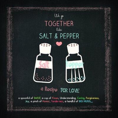 Pro-Art Glasbild Salt & Pepper, Kunstdruck