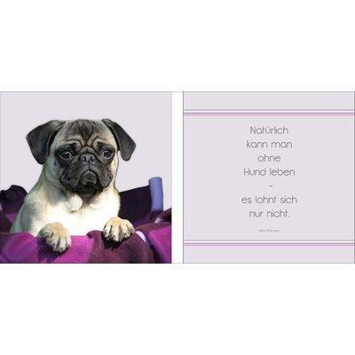 Pro-Art Glasbild Ohne Hund Leben, Kunstdruck