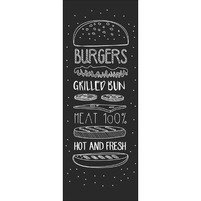 Pro-Art Glasbild Burgers - Hot & Fresh, Fotodruck