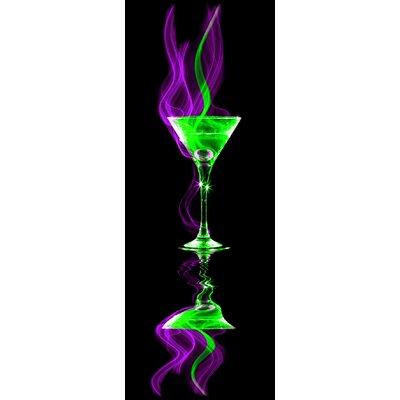 Pro-Art Glasbild Cocktail On Black III, Fotodruck
