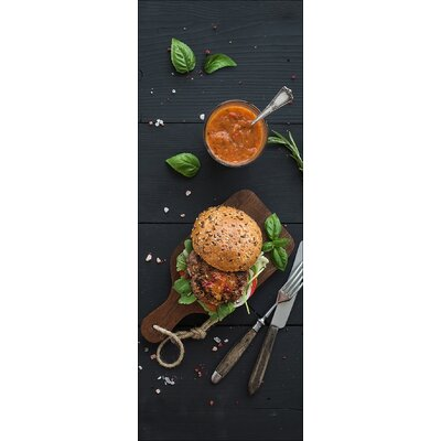 Pro-Art Glasbild Veggie Burger II, Fotodruck