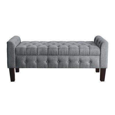 Borba Upholstered Storage Bench Upholstery: Gray