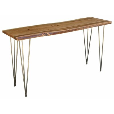 Wooden Freeform Console Table