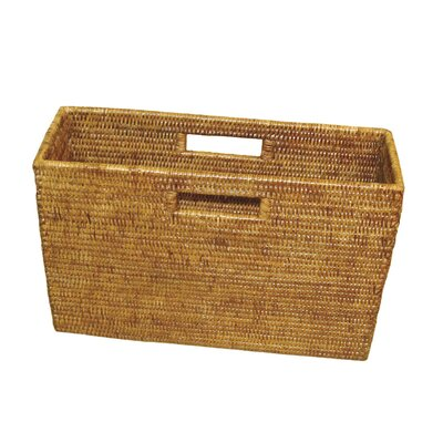 Rattan Slim Magazine Holder Color: Honey Brown