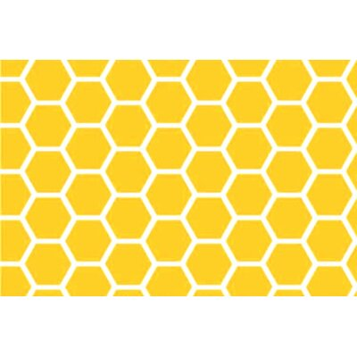 Honeycomb Fitted Cradle Sheet Color: Lemon