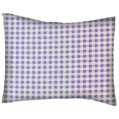 Darian Gingham Check Cotton Percale Pillowcase Color: Lavender