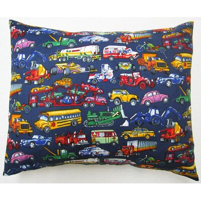 Vehicles Galore Cotton Percale Pillow Cover