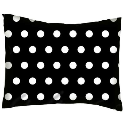 Jodie Polka Dots Cotton Percale Pillow Cover Color: Black