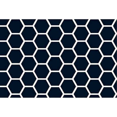 Honeycomb Fitted Cradle Sheet Color: Navy