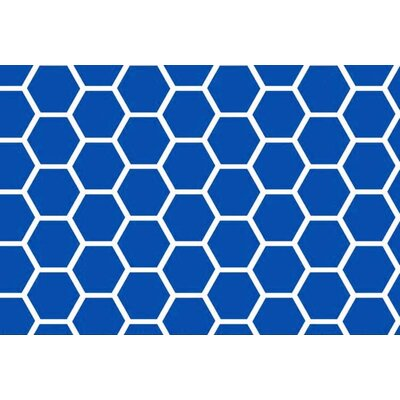 Honeycomb Fitted Cradle Sheet Color: Royal Blue