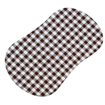 Gingham Check Fitted Bassinet Sheet Color: Brown