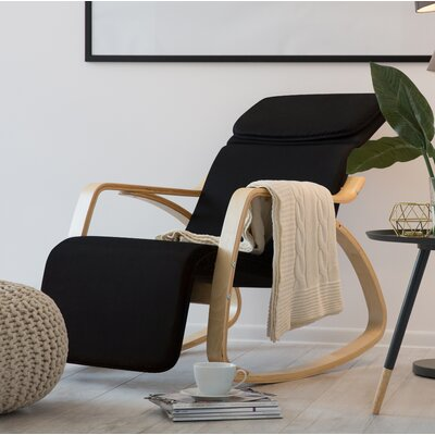 Theda Rocking Chair Color: Black