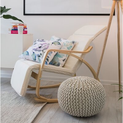 Theda Rocking Chair Color: White