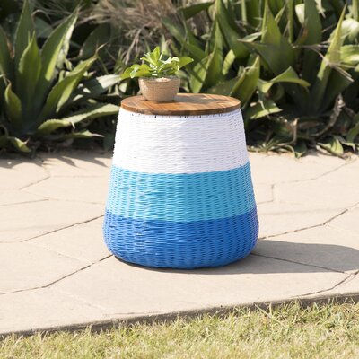 Rhianne Garden Stool Table Base Color: Blue