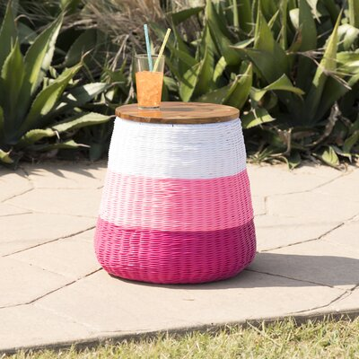 Rhianne Garden Stool Table Base Color: Pink