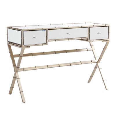 Portnoy Hollywood Regency Mirrored Console Table