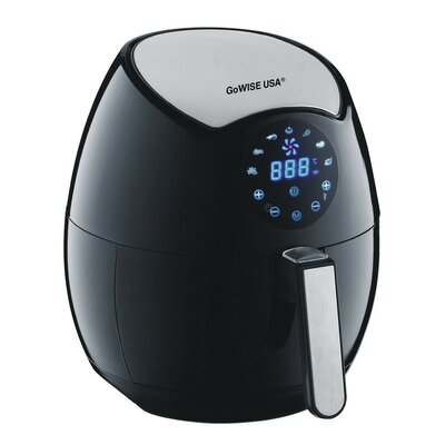 3.2-Liter 4th Generation Electric Air Fryer with Touchscreen Color: Black