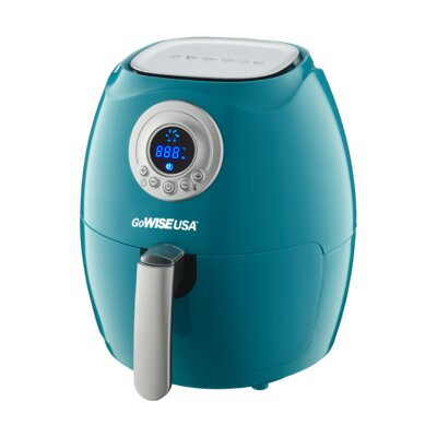 Digital Air Fryer with Recipe Book Color: Teal