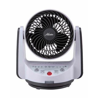 "Whole Room Air Circulator 9"" Oscillating Table Fan Finish: White"