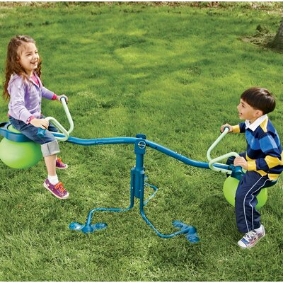 Spinning Seesaw and Hop Ball in One Spiro Hop Outdoor Toy