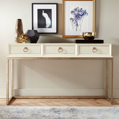 Capistrano Major Console Table Color: Parchment