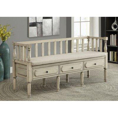 Drumkeeran Upholstered Storage Bench Finish: Antique White