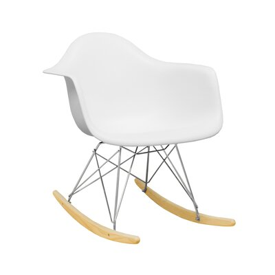 Paris Tower Rocking Chair Color: White