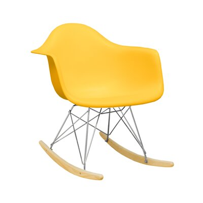 Paris Tower Rocking Chair Color: Yellow