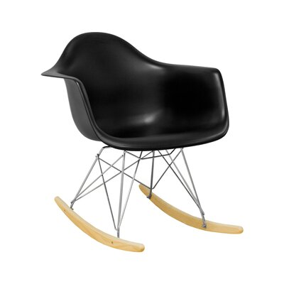 Paris Tower Rocking Chair Color: Black