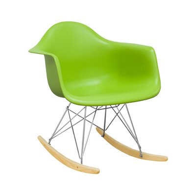Paris Tower Rocking Chair Color: Green