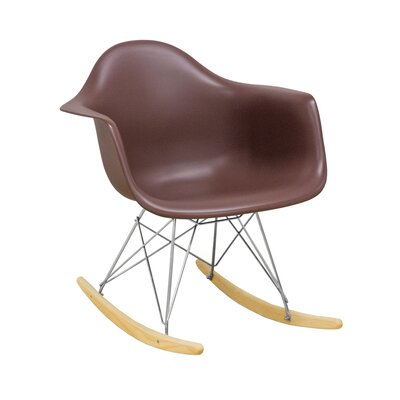 Paris Tower Rocking Chair Color: Chocolate