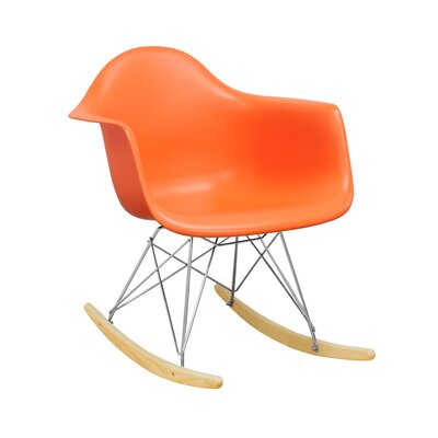 Paris Tower Rocking Chair Color: Orange