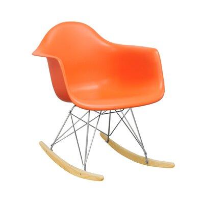 Paris Tower Rocking Chair Color: Orange