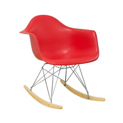 Paris Tower Rocking Chair Color: Red