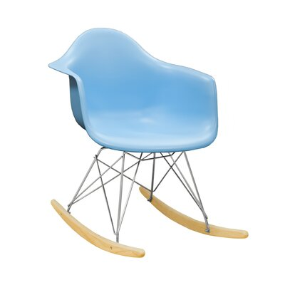 Paris Tower Rocking Chair Color: Blue