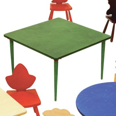 """Kids Square Arts and Crafts Table Color: Yellow, Size: 23"""" H x 42"""" W x 42"""" D"""