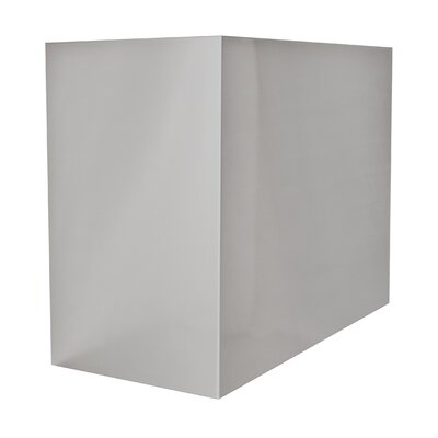 "Range Hood Chimney Extension Size: 12"" H x 30"" W x 12"" D"