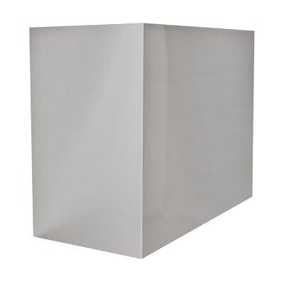"Range Hood Chimney Extension Size: 24"" H x 36"" W x 12"" D"