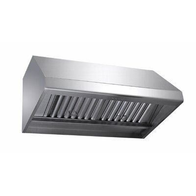 """36"""" 1000 CFM Ducted Wall Mount Range Hood Blower Direction: Top"""