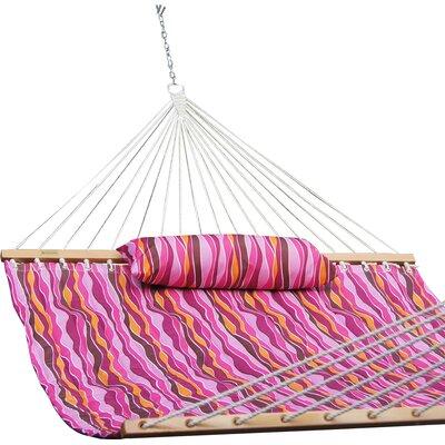 Allison Cotton Tree Hammock Color: Lavender Wave Stripes