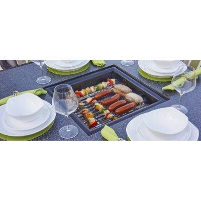 "Kristy Aluminum Charcoal Fire Pit Table Size: 29.13"" H x 46.85"" W x 46.85"" D"
