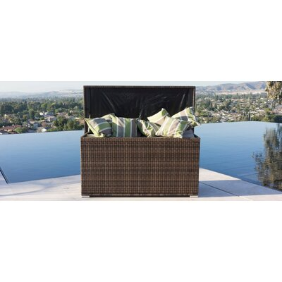 All Weather Crosson Wicker Deck Box Size: 27.17'' H x 54.33'' W x 21.26'' D